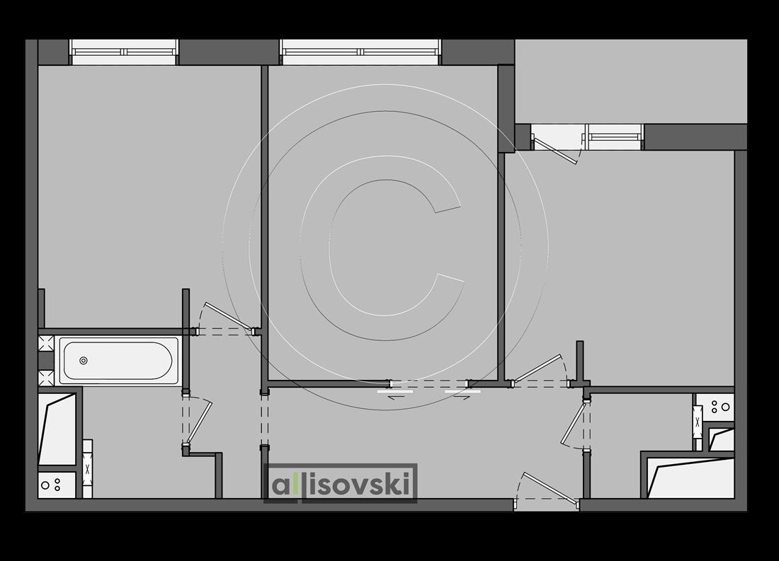 Перепланировка квартира Тушино