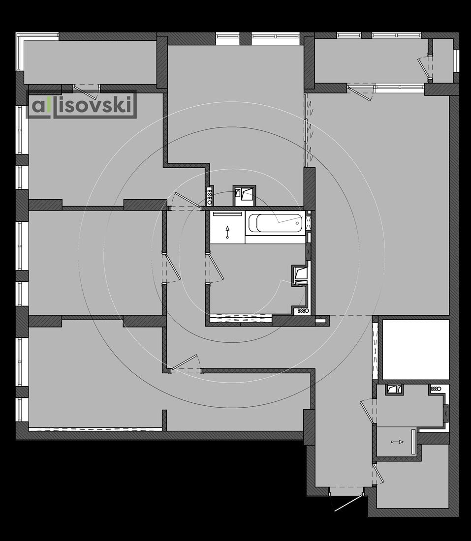 Перепланировка квартиры ЖК Времена года