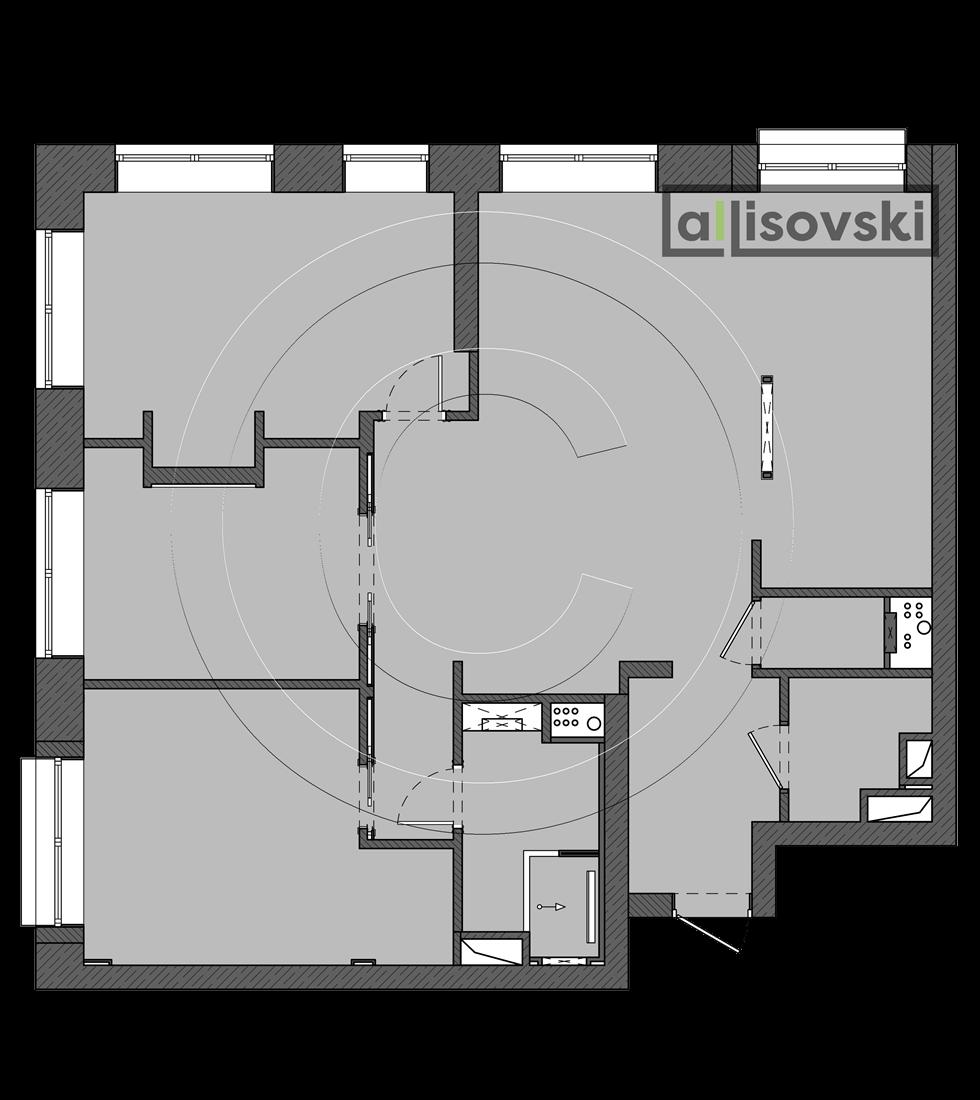 Планировка квартиры ЖК Домашний