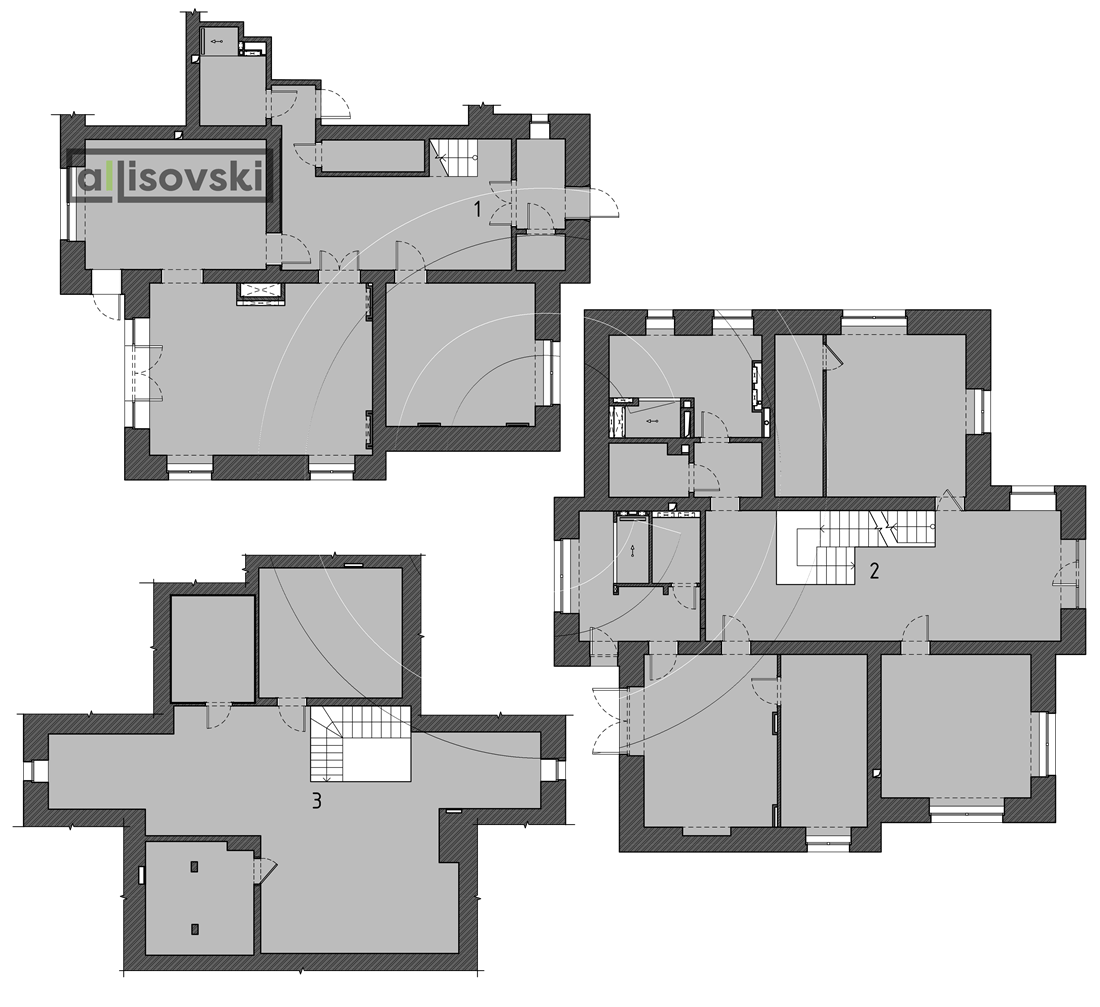 Перепланировка трехэтажного дома