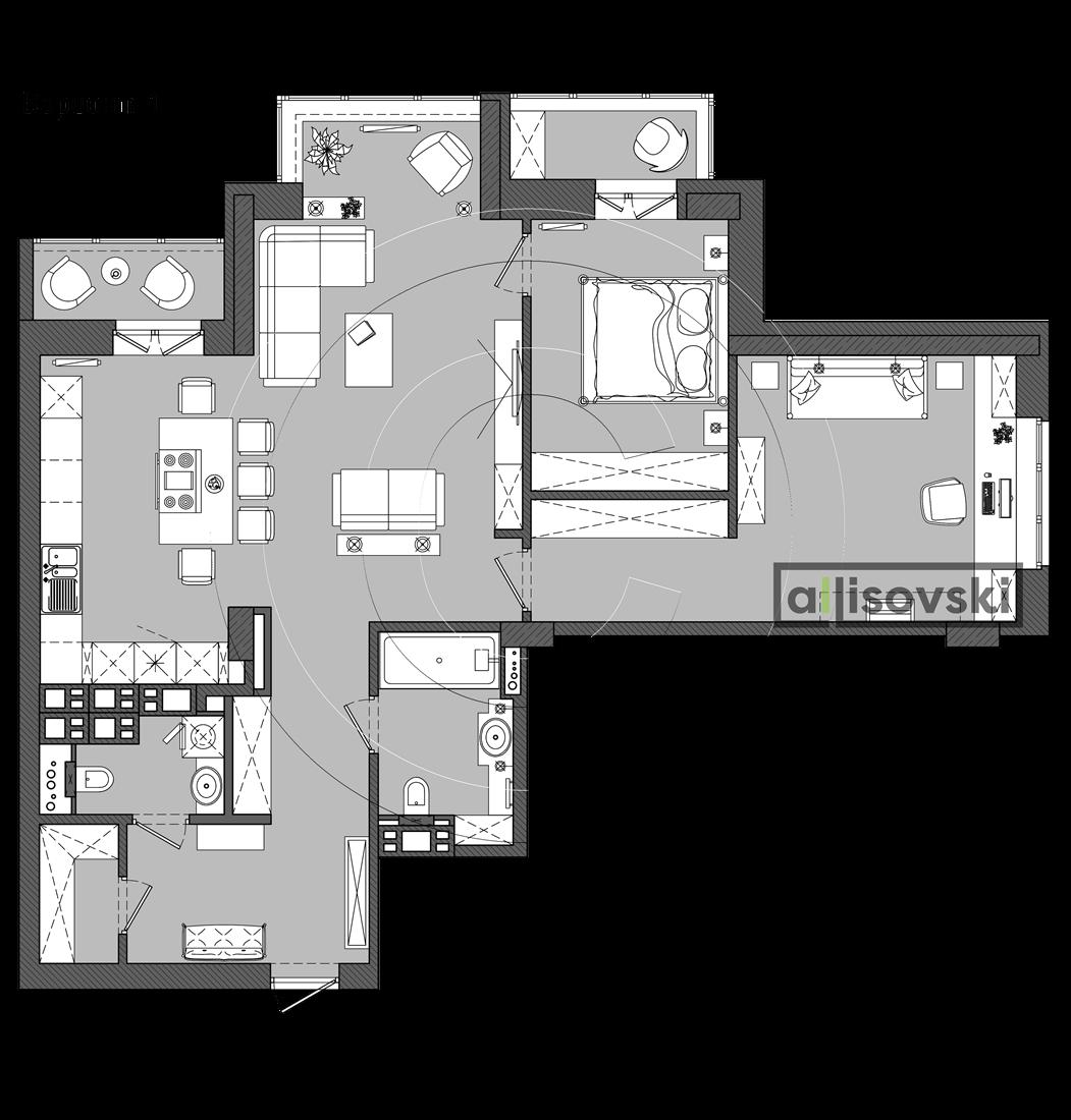 Варианты перепланировки квартиры Минск