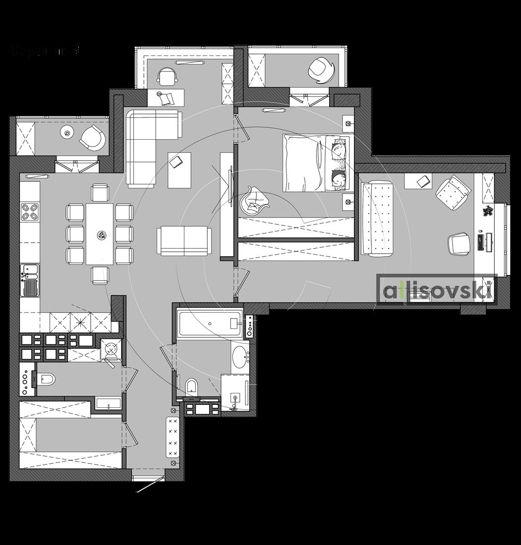 Проект перепланировки квартиры Минск