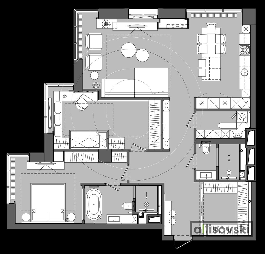 Рабочие чертежи для дизайн проекта квартиры