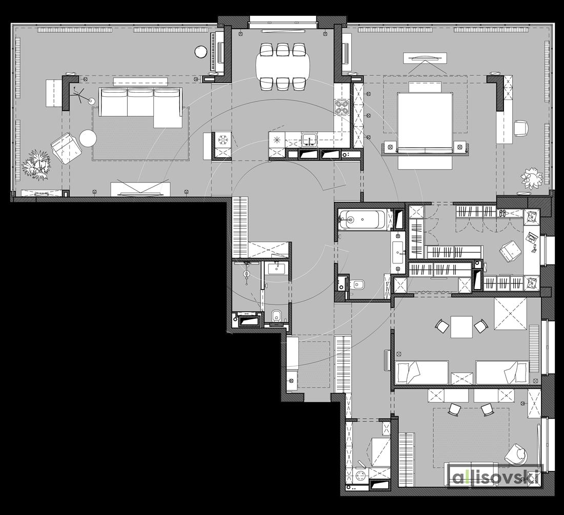 Перепланировка квартиры 220 метров